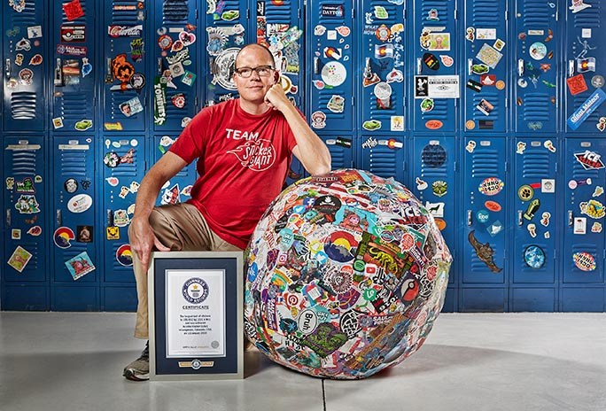 Largest ball of stickers certificate