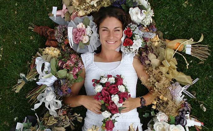 Most bridal bouquets caught