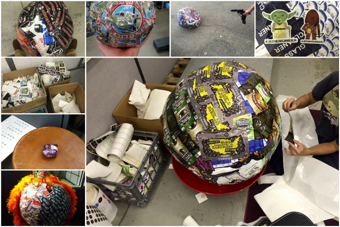 Making the world's largest ball of stickers