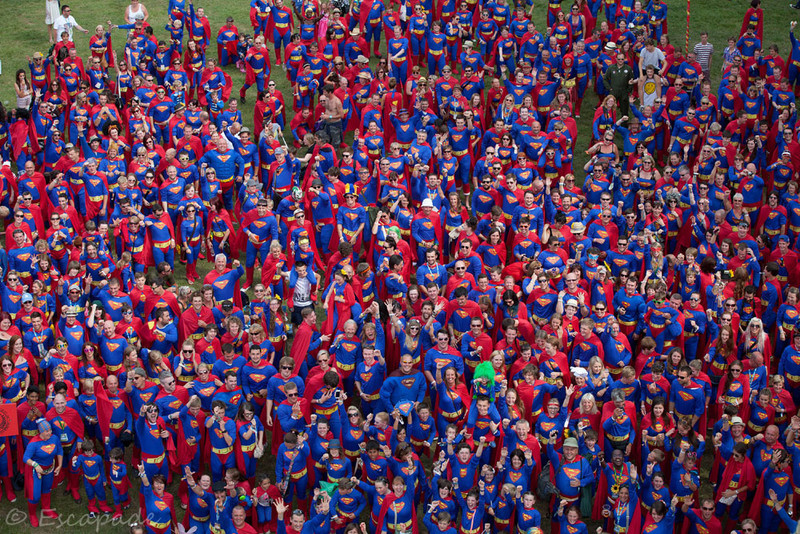 Largest gathering of people dressed as Superman